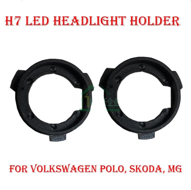 2PCS H7 LED lukturu pārveidošanas komplekts Spuldzes turētāja - Auto lukturi