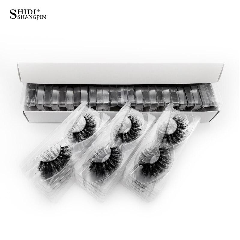 Atacado cílios de vison natural cílios maquiagem