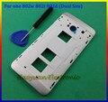100% Новые Оригинальные корпуса Ближний Рамка Крышки Случая + Боковые Кнопки + Открыть Средство Для HTC One M7 802 w 802 т 802d (Dual Sim)