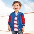 Pouco maven 2016 crianças marca de roupas de inverno meninos jaqueta de beisebol do algodão Hoodies & Camisolas WY064