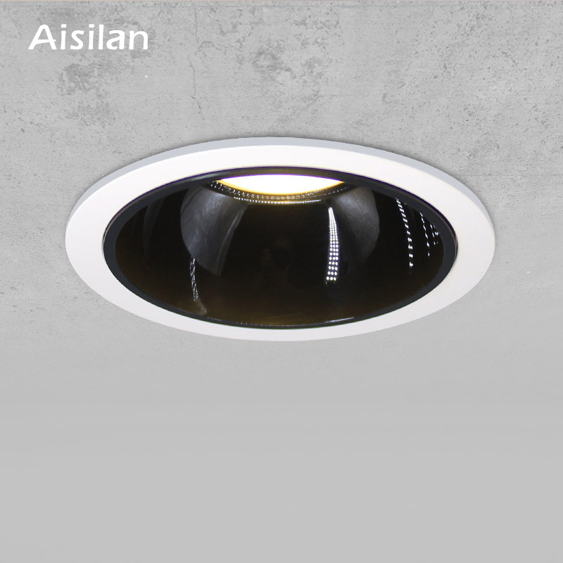 Aisilan Round Recessed LED Nordic Downlight Angle Adjustable Built in LED lamp Spot light AC90 260V 7W for Indoor Lighting
