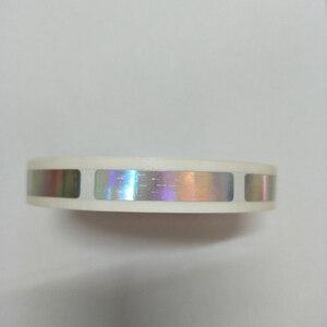 Image 1 - 1000 個/ロール 8 × 40 ミリメートルホログラムレーザー scatch オフステッカーゲームカードや結婚式のためのゲーム
