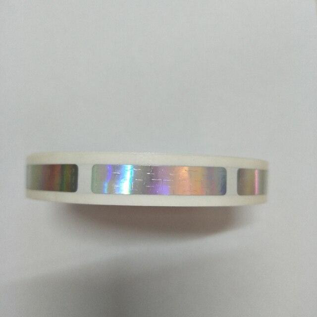 1000 個/ロール 8 × 40 ミリメートルホログラムレーザー scatch オフステッカーゲームカードや結婚式のためのゲーム