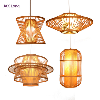 China Retro Wood E27 Bulb Pendant Light Lighting Loft Home Interior Decoration Bamboo Wooden Pendant Lamp Luminaire Hanging Lamp