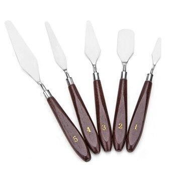 Outils De Suppression D'impression 3D Avec Manche En Bois Robuste Naturel, Trousse à Outils Pour Couteau à Palette Spatule Imprimante 3D, Paquet De 6