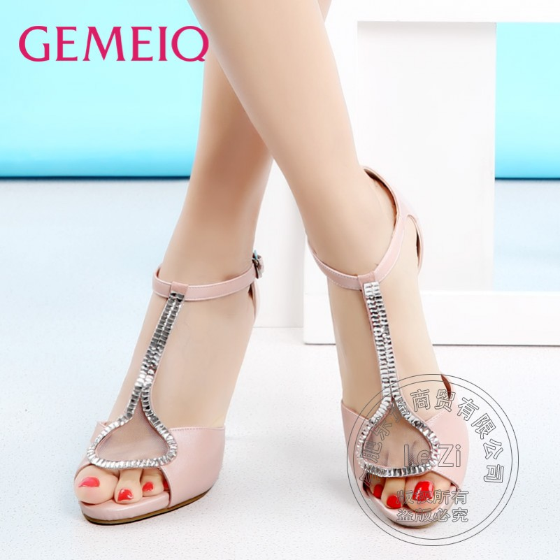 Stiletto Heels Pu font b Women b font Shoes Peep Toe High Heels Soft Hasp Comfortable