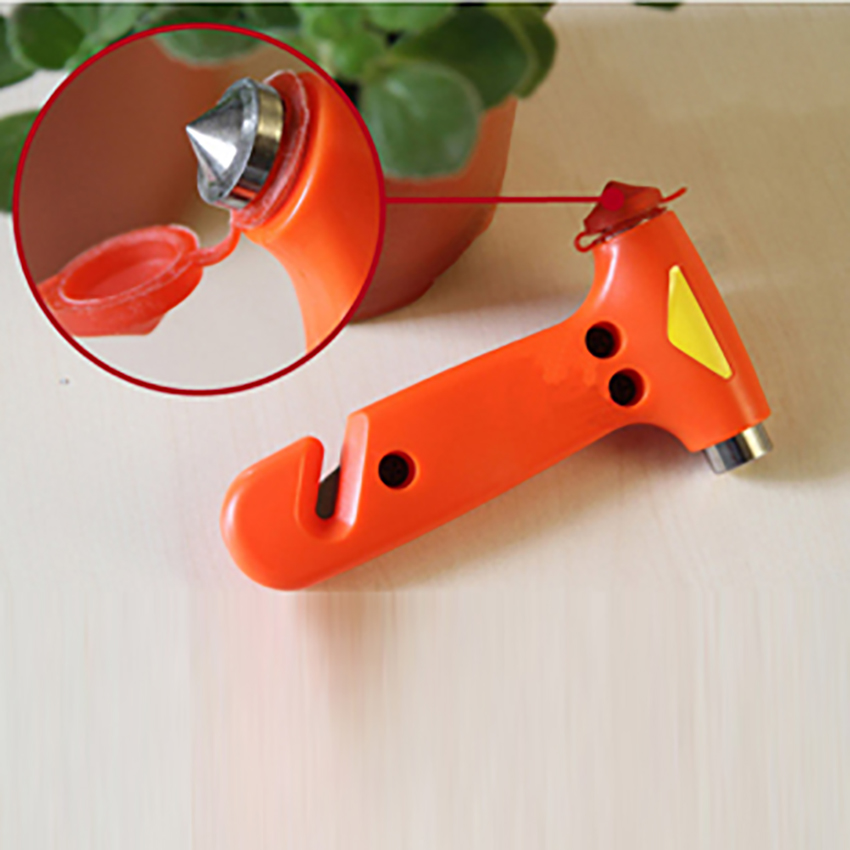 2 In 1 Mini Car Safety Hammer Life-Saving Escape Hammer Cutting Rescue Tool Multi Tool Car Window Broken Emergency Glass Breaker