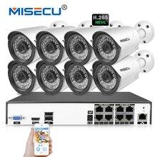MISECU H.265/H.264 48 V 8 Kanal IEE802.3af 4.0MP 4 Karat POE CCTV 8*4,0 MEGAPIXEL Cam Hi3516D OV4689 P2P HDMI Metall Nachtsicht CCTV-System