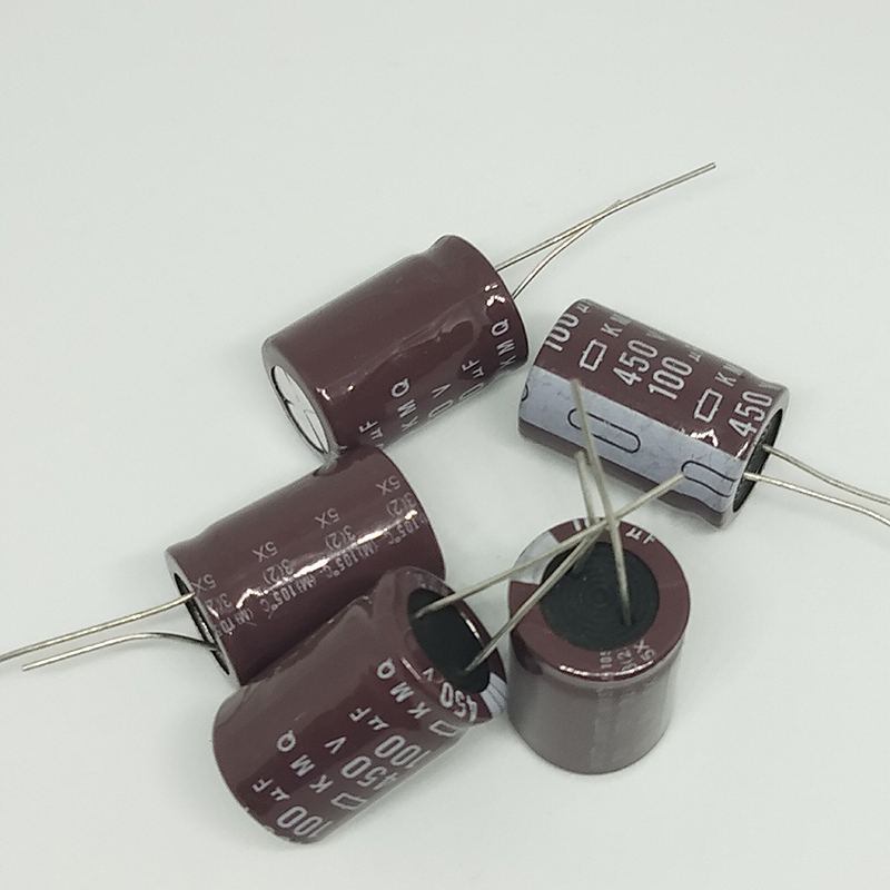 electrolytic capacitor Original 5 pcs/lot 450V 100UF 18MM * 25MM 100uf 450v KXG electrolytic capacitor ic ... (1)