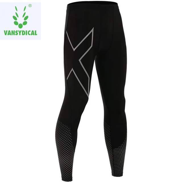 3f71901d2a97b8 Vansydical Fitness Sports Leggings Men's Printed Gym Compression Pants  Running Quick Dry Basketball Workout Jogging Tights
