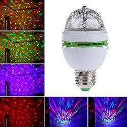 E27 ac 120 v 220 v conduziu a luz do estágio/lâmpada rgb luzes de festa 3 w colorido lâmpadas dj mostrar a luz do automóvel lâmpadas rotativas romântico lampada