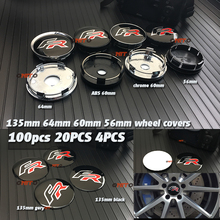 100pcs 4pcs 20x 135mm 64mm 56MM 60mm FR Logo Car Wheel Hub Center decals badge emblem for Seat Leon wheel center stickers