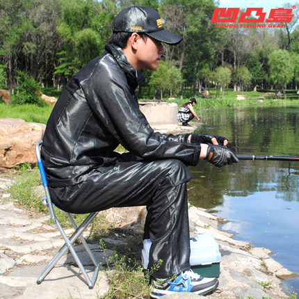 ФОТО Fishing sun protection service men and women summer fishing service long - sleeved hooded mask with outdoor fishing suits
