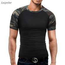 Brand MenS T Shirt 2018 Summer Military Camouflage Fashion O-Neck Short-Sleeved Tees Male T-Shirt Slim Tops DD01 Laipelar