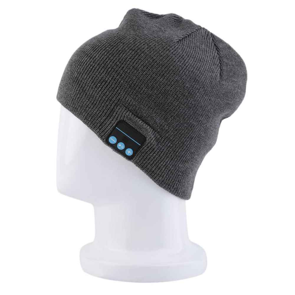 NEW Winter Warm Beanie Hat Wireless Smart Bluetooth Hat Receiver Audio Music Caps Headphone Headset Speaker Mic Cool Knitted Cap practical outdoor sports bluetooth headphones speaker mic winter warm knitted beanie hat
