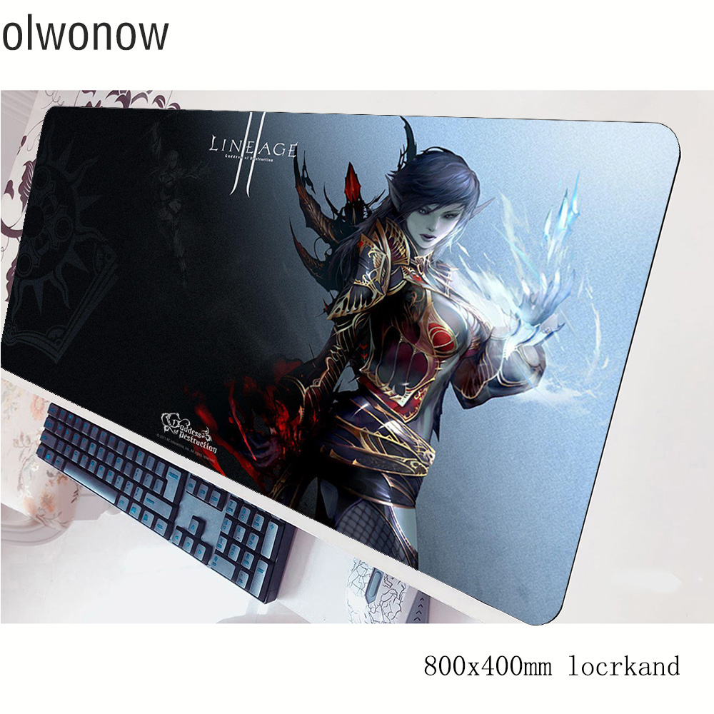 Lineage 2 Mouse Pad Gamer 80x40cm Gaming Mousepad Halloween Gift Notbook Desk Mat Fashion Padmouse Games Pc Gamer Mats Gamepad