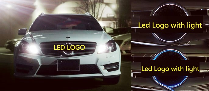 eOsuns Car Styling LED Star Light DRL for Mercedes Benz C-class W204 FRONT GRILLE LED LOGO Daytime Running light car drl kit for mercedes benz c class w204 c180 c200 c230 c260 led daytime running light bar auto fog lamp daylight drl light