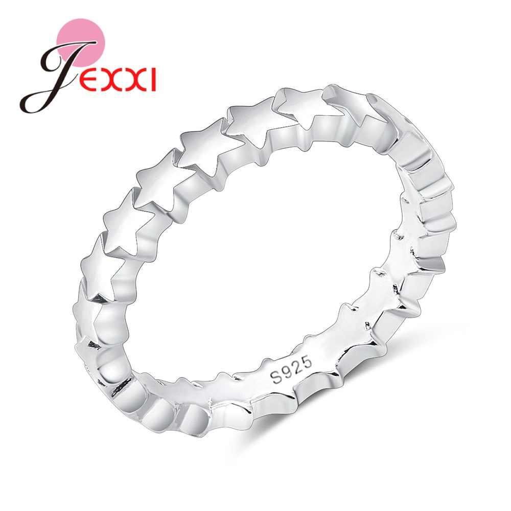925 пробы, серебряные кольца для женщин, Звездный дизайн, элегантные, милые, стильные, подарок для влюбленных, аксессуары, кольца на свадьбу, годовщину
