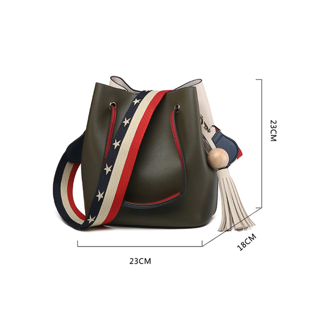 Cute Bucket Bags Bucket Leather Shoulder Sling Bags For Women Drawstring Handbags Ladies Small Crossbody Bucket Bag 4