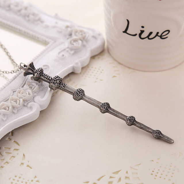 Harry Potter Magic Wand Hermione Dumbledore Voldemort Necklace