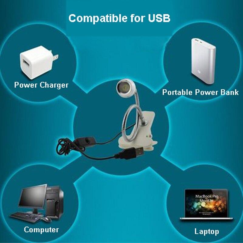 Ingelon USB Light Laptop Lampop Lamp Gadget Clip Flxtures - Համակարգչային արտաքին սարքեր - Լուսանկար 6