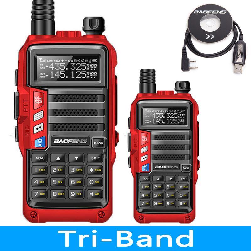 BAOFENG UV S9 8 W VHF/UHF136 174Mhz & 400 520 Mhz Dual Band 10 KM ยาว thickenbattery Walkie Talkie วิทยุ CB-ใน วิทยุสื่อสาร จาก โทรศัพท์มือถือและการสื่อสารระยะไกล บน AliExpress - 11.11_สิบเอ็ด สิบเอ็ดวันคนโสด 1