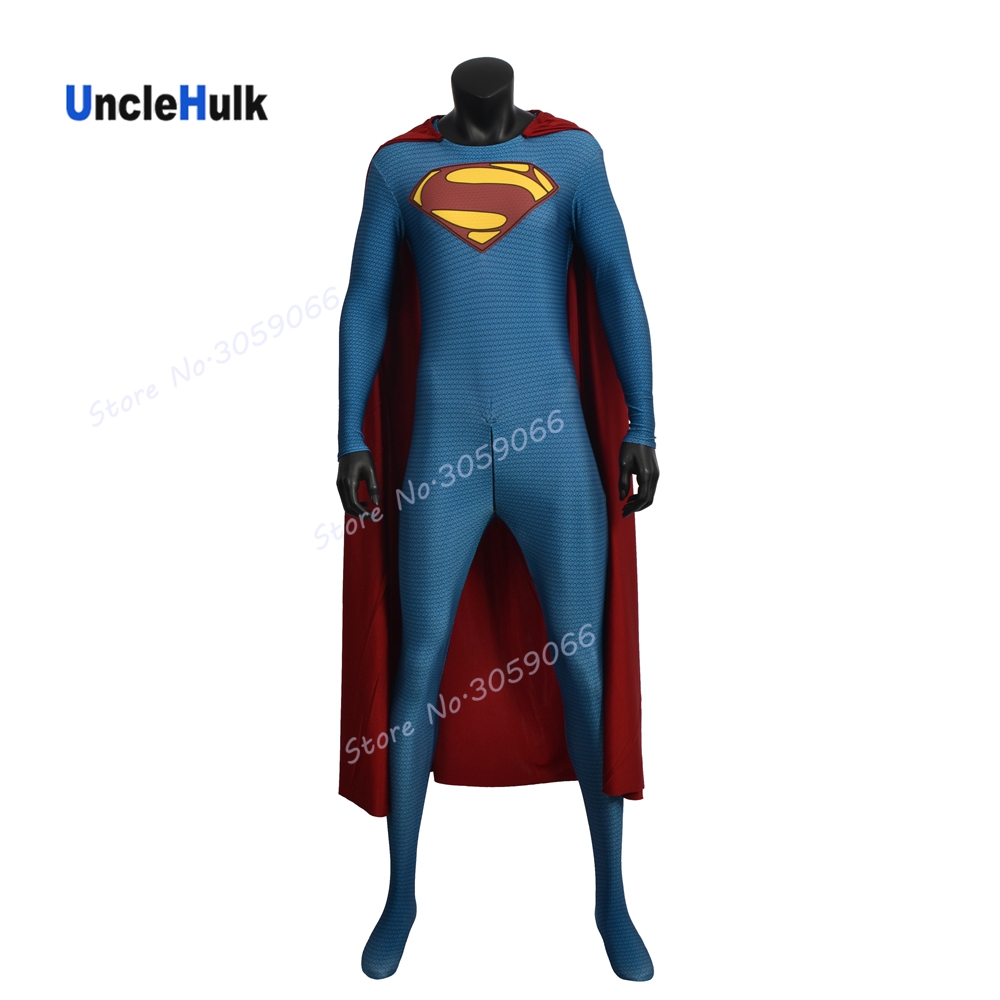 High Quality Superman Costume Printed Costume (with Chest Logo) - griding fabric | UncleHulk