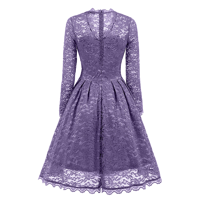 Himanjie 2017 Autumn Women V Neck Lace Dress Elegant Sequin Bodycon swing  Dress Lady hollow out vintage patchwork dresses -in Dresses from Women's  Clothing ...