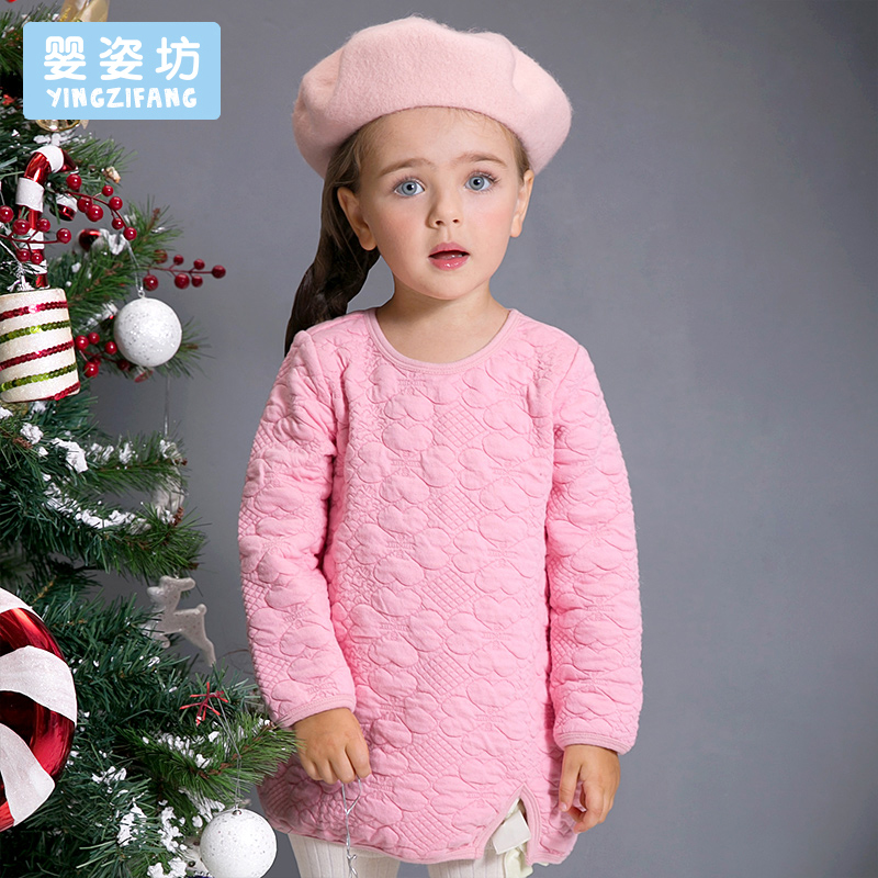 YINGZIFANG Fashion Girls T-Shirt Clothes Solid Color Children Tee Shirt Long Sleeve Autumn Kids Sweatshirt Girls Clothing Tops drop shoulder lantern sleeve solid tee