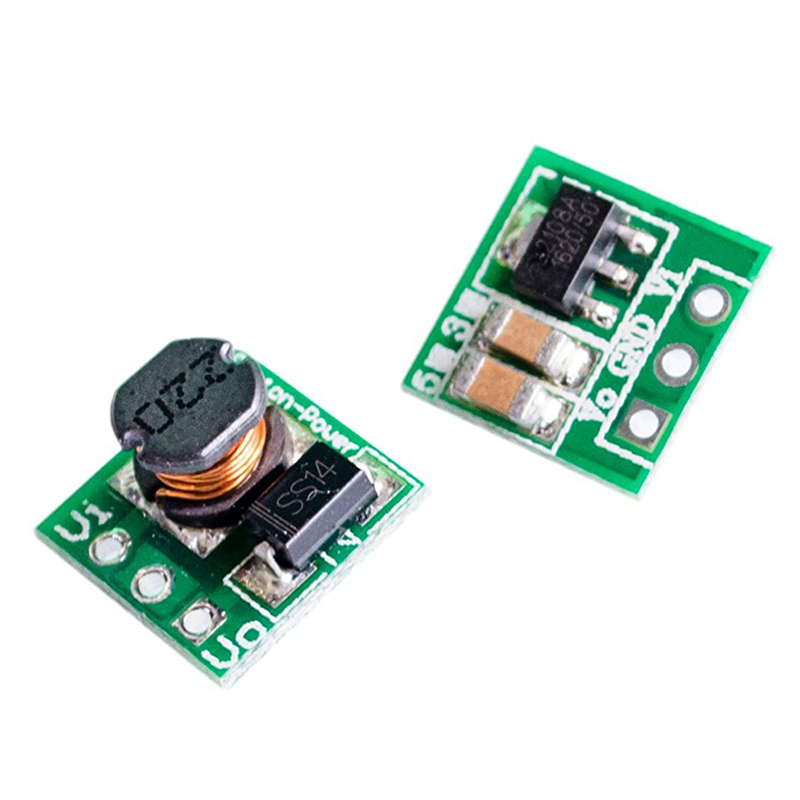 все цены на JFBL Hot 0.9-5V To 5V DC-DC Step-Up Power Module Voltage Boost Converter Board 1.5V 1.8V 2.5V 3V 3.3V 3.7V 4.2V To 5V Green онлайн