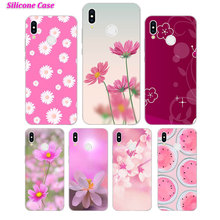 Silicone Case Cute flowers art for Huawei P Smart 2019 Plus P30 P20 P10 P9 P8 Lite Mate 20 10 Pro Nova 3i Cover