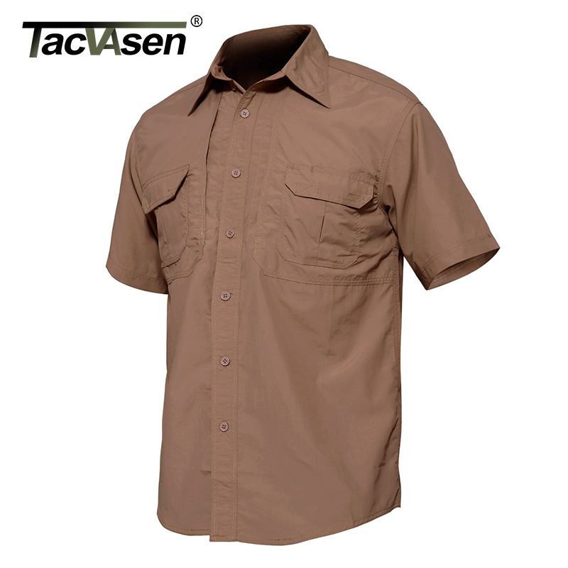 TACVASEN Brand Men Military Clothing Tactical Quick Drying Shirt Breathable Casual Short Sleeve Shirt Men Combat Shirt JNE-002