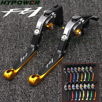 For Yamaha FZ1 FAZER 2006 2007 2008 2009 2010 2011 2012 2013 2014 2015 Logo(FZ1) Gold+Titanium Motorcycle Brake Clutch Levers