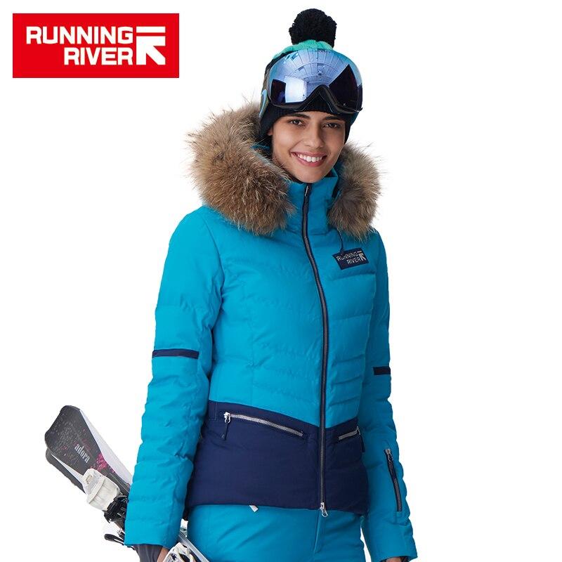 RIVIÈRE qui COULE Marque Femmes Ski Veste 4 Couleurs Taille S-2XL Étanche Ski Neige Veste Femmes D'hiver Sports de Plein Air Manteau # D6140