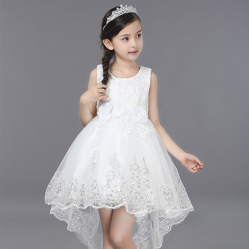 цены Girls Dress Summer Clothes Girls 2018 Baby Girls Wedding Veil Dresses Kids Party Wear Costume For Kids Children Clothing Pageant