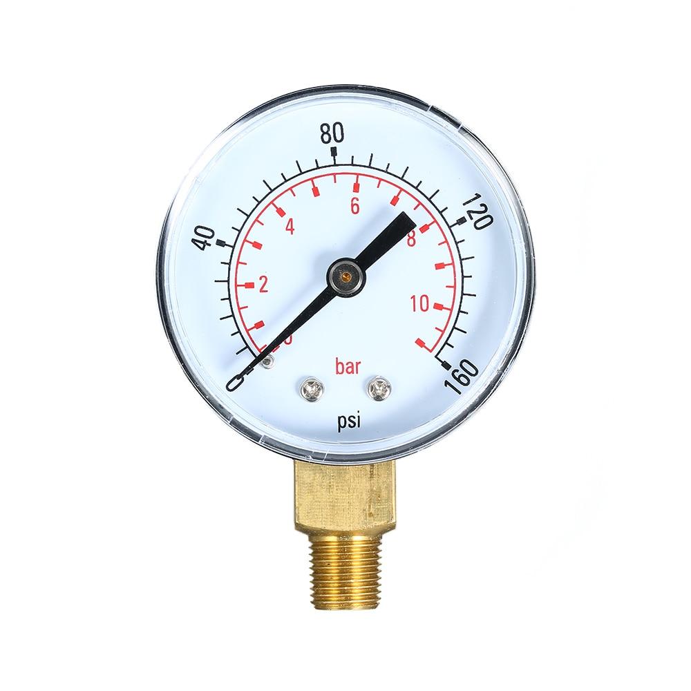 "0 ~ 160psi 0 ~ 11bar 1/8 ""npt Dual Skala Mechanische Manometer Pool Filter Aquarium Wasser Luft Gas Manometer Meter Kaufe Eins, Bekomme Eins Gratis"