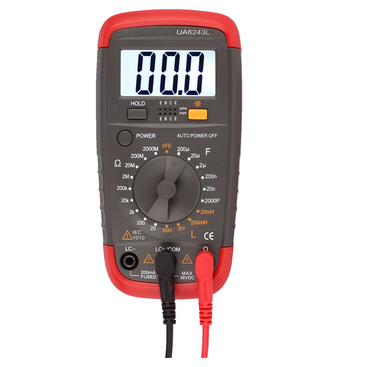 UYIGAO Digital Multimeter DMM Resistance Capacitance Inductance LCR Multi Meter Tester with Backlight hyelec ms89 2000 counts lcr meter ammeter multitester multifunction digital multimeter tester backlight capacitance inductance page 5