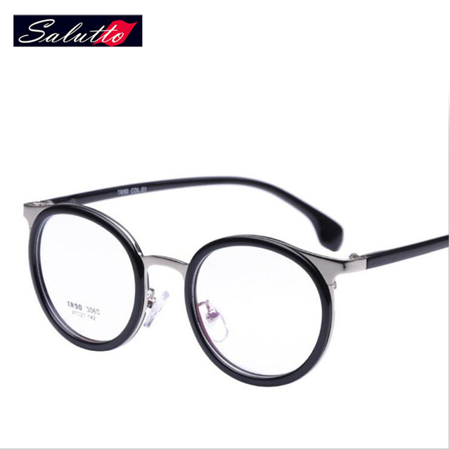 8fd2e7ffdb8 SALUTTO Eyeglasses Frames For Women Cute Round Round Metal Frame Glasses  Prescription Eyewear Nerd Computer Glasses