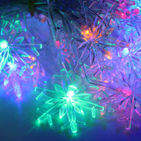 10M 70 Leds Waterproof Copper Wire LED String Lights Multi-Colored Snow Decoration Lamp For Festival Christmas Holiday Wedding