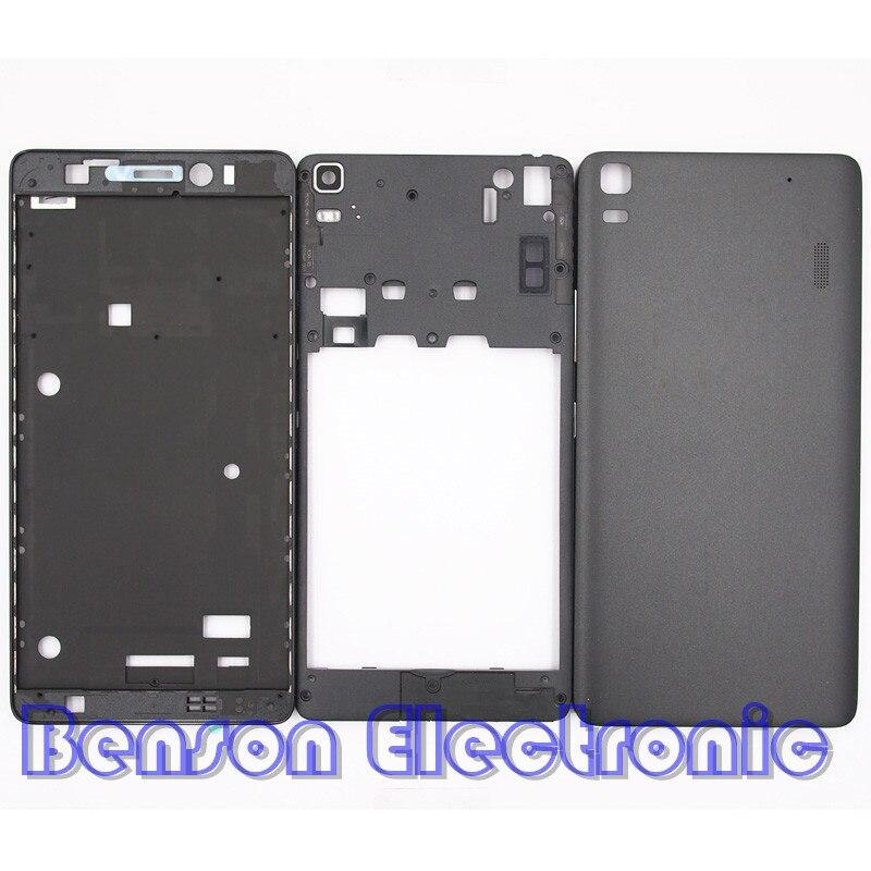 Цена за BaanSam Новый Передняя Рамка Ближний Рама Задняя Крышка Батареи Для Lenovo K3 ПРИМЕЧАНИЕ K50-T5 A7000 Жилищного Случай С Мощность Объем кнопки