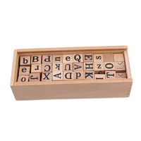 Montessori Educational Wooden Toy For Children Sensory Professional Teaching Aids English Alphabet Cognition Baby Toy