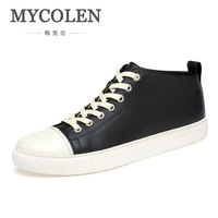 MYCOLEN Brand 2018 Men Shoes Casual Sneakers Patchwork High Top Fashion Footwear Male Cool Hightop Top