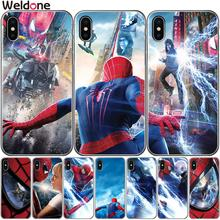 Cool Marvel Avengers Spider Man Phone Case For iPhone XS Max XR X 7 6s 8 Plus 5S SE The Amazing Spider-Man case Cover etui Coque