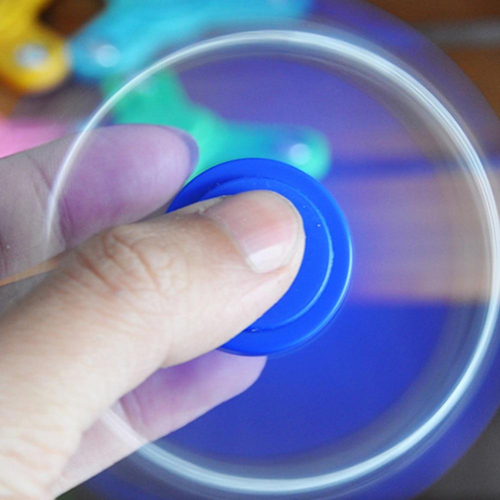 Plastic 3D Hand Spinner Fan Fidget Spin Desk Toy EDC Steel Ball Anti Stress