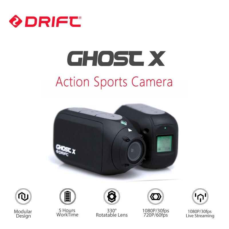 Nouvelle Arrivée Dérive Fantôme X Action Sports Caméra 1080 p Moto Vtt Vélo Casque Cam 8 Heures de Temps De Travail avec WiFi