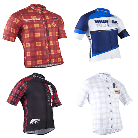 Sugoi Novelty Plaid Short Sleeve Cycling Jersey For Man Bicycle