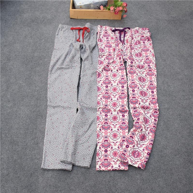 Pants For Women Cotton Woven Velveteen Women Lounge Sleep Bottoms Trousers Flower