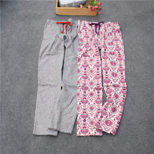Pants For Women Cotton woven velveteen Lounge Sleep Bottoms