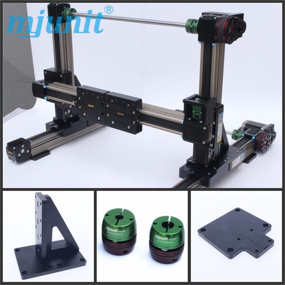 mjunit 45mm belt drive linear guide rail/Using the linear guide of 57 stepping motor linear axis with toothed belt drive belt drive linear rail reasonable price guideway 3d printer linear way