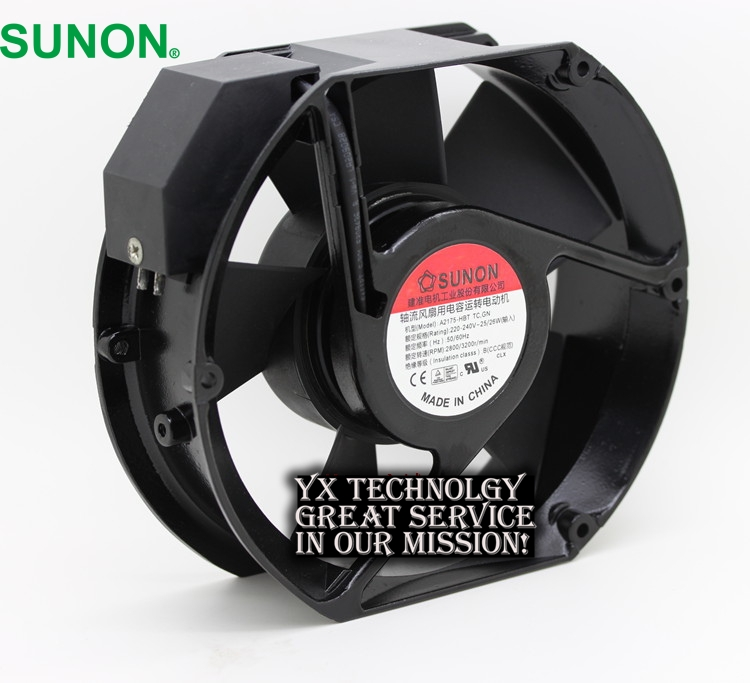 New and original Sunon axial fan A2175-HBT TC.GN 1751 220V 0.11A fan 172*150*51mm original s a n j u sj1738ha2 172 150 38mm 220vac 0 31a axial fan